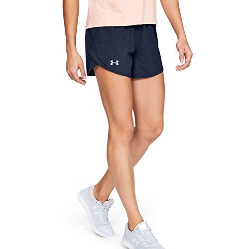 Under Armour Women's Fly By 2.0 Running Shorts , Midnight Navy (411)/Midnight Navy , Small