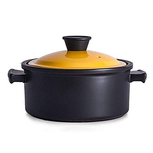 Platos de Plato con Tapas - Estufa de Gas cerámica Olla Olla de inducción Olla de Sopa dedicada Pot-3.5l Utensilios de Cocina TINGG (Color : 4.5l)