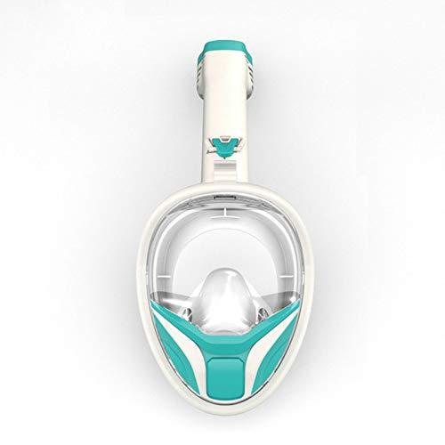 YHYSJ Máscara de Buceo Plegable, máscara de Snorkel antivaho de Cara Completa, máscaras de respiración subacuática, Equipo de Buceo de Entrenamiento Impermeable