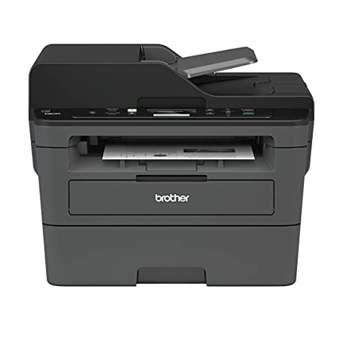 Brother DCP-L2550 All-in-One Wireless Monochrome Laser Printer for Home Office - Print, Scan, Copy - 2400 x 600 dpi, 36 ppm, 128MB Memory, 250-Sheet, 50-Sheet ADF, Automatic Duplex Printing