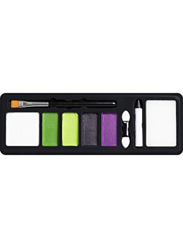 Funidelia   Maquillaje de Beetlejuice Oficial para Hombre y Mujer Tim Burton, Pelculas de Miedo, Terror - Multicolor, Accesorio para Disfraz