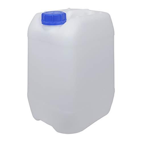 Bidón Garrafa Plástico 10 litros apilable. Apta para uso alimentario. Homologación para transporte. (1 Unidad).