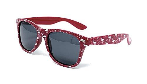 VENICE EYEWEAR OCCHIALI Gafas de sol Polarizadas para niño o niña - protección 100% UV400 - Disponible en varios colores (Granate)