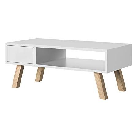 Aufbewahrungsbox Couchtisch rund Sofatisch Design Beistelltisch 35cm weiß