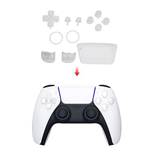 ボタン保護カバー PS5コントローラ専用 滑り止めキャップ コントローラボタンカバー 透明 交換用 左/右 グリップキャップ PS5 コントローラー用 完全セット