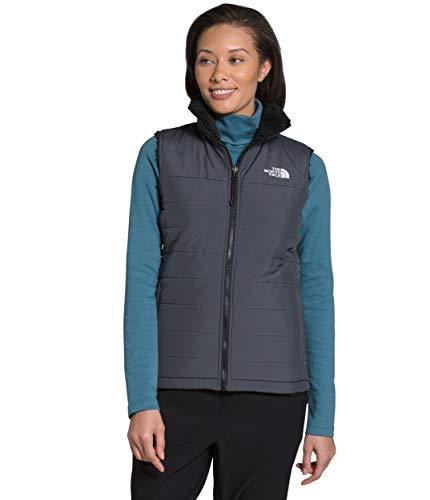 The North Face Women's Mossbud Insulated Reversible Vest, Vanadis Grey/TNF Black, S