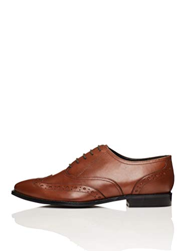 find. Smart Zapatos de Cordones Brogue, Marrón Brandy, 37 EU