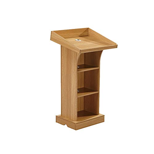 YaGFeng Lectern Conference Room Podium Desk Hotel Moderator Lecture Table For Company Campus Podiums (Color : New Oak, Size : One size)
