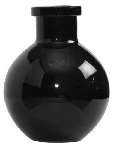 Ivy Lane Design 5-Pack Transparent Glass Vases, 3.5-Inch, Black