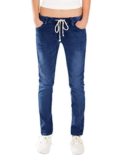 jeans donna jogger Fraternel Jeans Donna Jogger Pantaloni Normal Waist Blu Scuro Taglia: 3XL