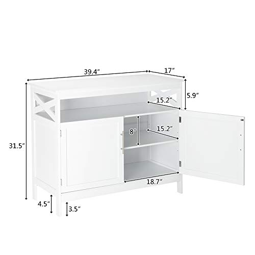 Bonnlo-Sideboard-Buffet-Storage-Cabinet-Kitchen-Storage-Buffet-White-Dining-Buffet-Modern-Storage-Sideboard-with-Open-Shelf