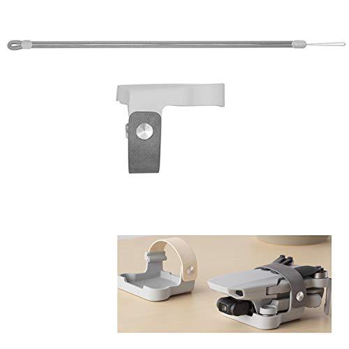 Flycoo2 Propellerhalter für DJI Mavic Mini Drone Requisiten Befestigung Fixierschutz + Gurt Festbandzubehör (grau)