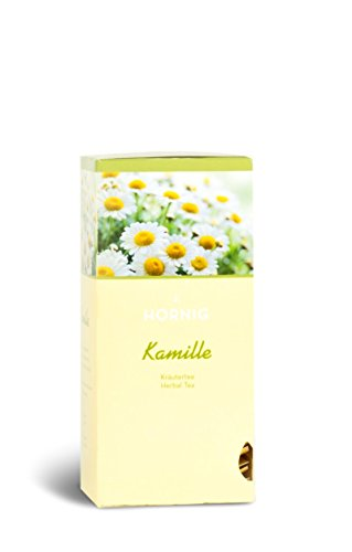 J. Hornig Tee Kamille, Kamillentee, 4er Pack, 4 x 25 Doppelkammer-Teebeutel