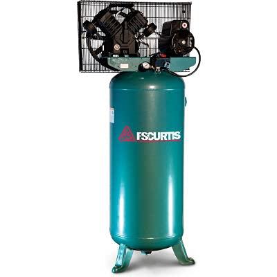 FS-Curtis FCT05C30V6X-A2X1XX, 5 HP, Single-Stage Comp, 60 Gal, Vert, 135 PSI, 16 CFM, 1-Phase 230V