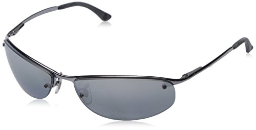 d0e842611fd Store Ray Ban Sunglasses RB 3179 Top Bar 004 82 Gunmetal Polarized Grey  Mirror Silver Gradient