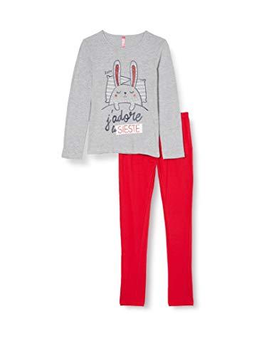 Lina Pink EF.Flem.pl2 Juego de Pijama, Rouge/Marine, 10 ANS para Niñas