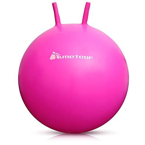meteor Palla Saltare per Bambini - Bouncing Ball Divertimento - Pallone Rimbalzante - Pallone Saltando Gonfiabile Robusto - Canguro 55 o 65 cm (55cm, Rosa)