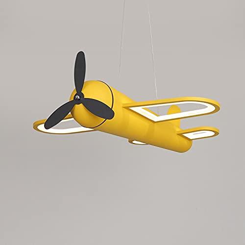 Zenghh Vintage Guerra Mundial II Aeronaves Araña Araña Atrapilla Militar Propeller Fan Latido de ala fija Bombardero Plane Lámpara Colgante LED LED Timbre Luz de atenuación para Niña Noche Dormitorio