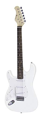 Guitarra eléctrica PATRON para zurdos con accesorios, blanco - Guitarra para principiantes...