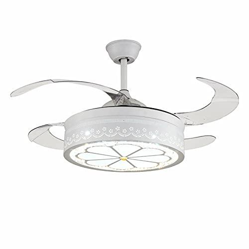 Ventilador de techo con iluminación LED invisible para techo, mando a distancia, 3 cambios de color, 220-240 V