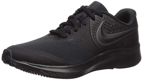 Nike Unisex-Kinder Star Runner 2 (GS) Sneaker, Schwarz (Black/Anthracite-Black-Volt 003), 36.5 EU