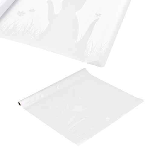 [casa.pro] Sichtschutzfolie für Fenster gestreift - Statisch haftend 67,5cm x 5m Milchglasfolie mit Muster Katze - Tür Fensterfolie Blickdicht Selbstklebend