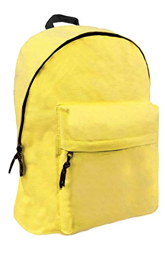 Diakakis 000580073 Yellow Fluo Backpack Mood Omega 32X42X16, Multicolored, 32 x 42 x 16