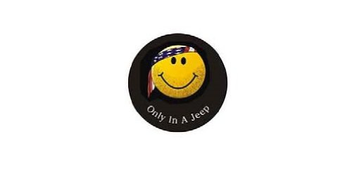 Genuine Jeep Accessories 82212305AB Cloth Spare Tire Cover with Smiley Face Logo