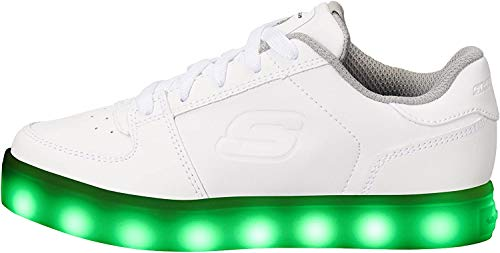 Skechers Energy Lights-Elate, Zapatillas Altas Unisex niños, Blanco (White), 32 EU