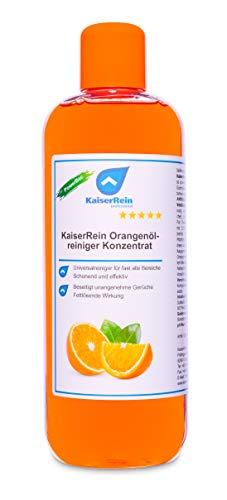 KaiserRein Orangenölreiniger 500 ml Konzentrat Orangenreiniger, Orangen Öl, Orangenöl-Reiniger I Allzweckreiniger I Universalreiniger I Fettlöser