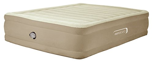 Aerobed Comfort Raised King Size Air Bed with Flocked Surface and Pump