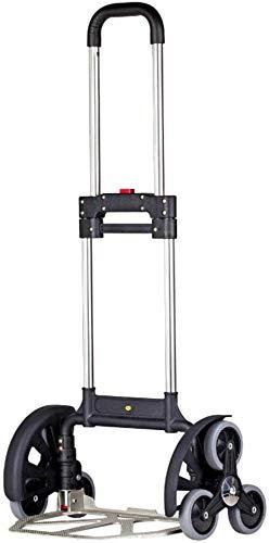 Zjnhl JIAN Trolley 6 klimmen wiel trap hanger robuust aluminium opvouwbare handtas vrachtwagen trolley mand industriële lagers