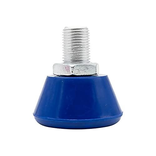 SDFLKAE Gummi-Bremsen-Zubehör für Rollschuh-Zehen, elastisch, rutschfest, 2 Stück (flacher Boden, blau)