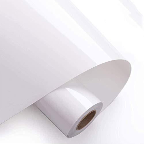 sancuanyi Poliflex Poli-Flex Premium Flexfolie Bügelfolie für T-Shirts, Hüte, Kleidung, Hitzepresse, Cricut, Craft Sublimation (30 cm x 1.5 m, 1 Roll Weiß)