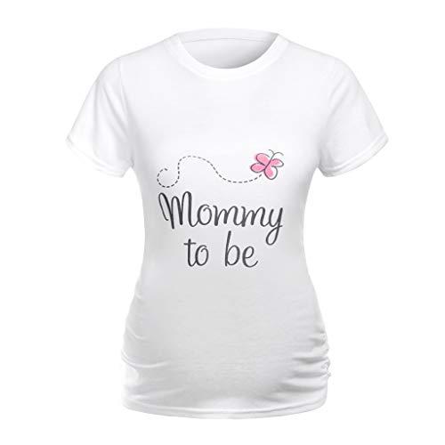 Allence Schwangere Frauen Lustige Witzige Süße Umstandsmode Damen T-