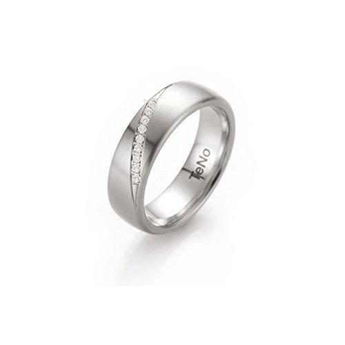 Teno Edelstahl Ring mit Brillanten 069.25P07.56