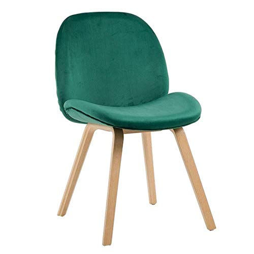 Dining Chairs ZHANGZZ-Sillas de Comedor Artículos for el hogar Sillas de Madera, Moderna Franela Silla, Silla de Comedor.Estilo escandinavo.Sala, Comedor, Hotel, Cocina