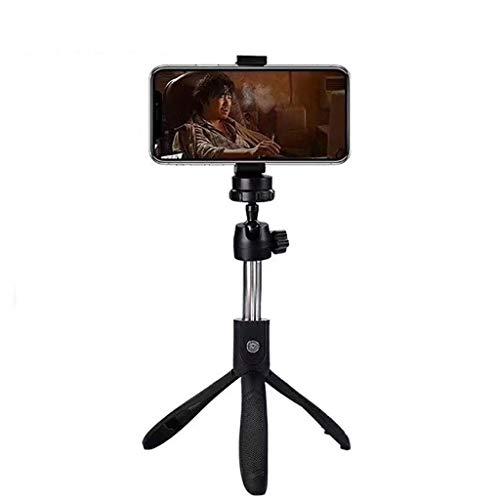 HGFTY Multifunción Selfie palillo de trípode, Extensible y portátil Monopod, Adaptador, Compatible con la cámara de Peso Ligero