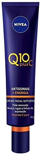 Creme Facial Antissinais Noite Nivea Q10 Plus C 40Ml, Nivea