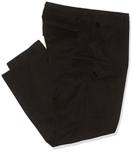 G-STAR RAW Men's Rovic Mt 3D Straight Tapered Trouser, Dark Black, 29W / 32L