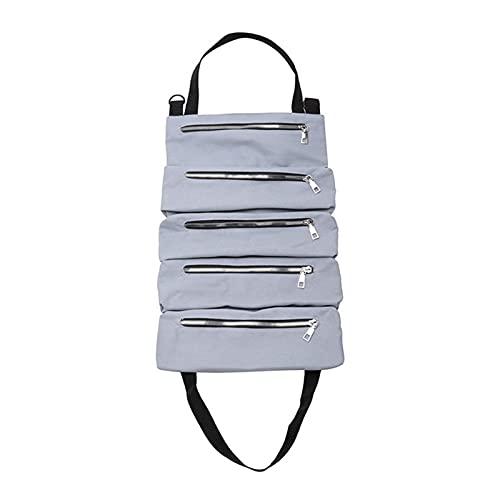 HMEILI Autowerkzeug up Taschen Leinwand Aufbewahrungsbeutel Tools Tote Sling Halter Rücksitz Organizer Grau (Color : Gray)
