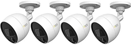 Q See 4pk 4K Ultra HD QCA Analog Series Bullet Camera with PIR and Night Vision BNC Cables 4 product image