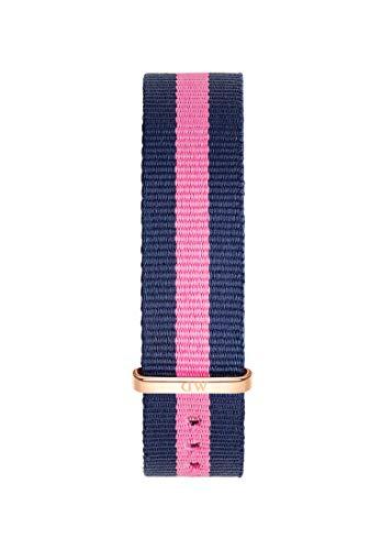 Daniel Wellington Classic Winchester, Blau-rosa/Roségold Uhrenarmband, 18mm, NATO, für Damen und Herren