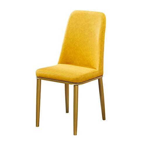 QiAOJUNJUNJUN Keukenstoelen van flanel (badstof) met zitting en rugleuning, onderstel van verguld metaal, hoogte van de stoel 89 cm