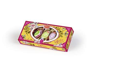 Reber Trüffel Ostereier, Pralinen aus Alpenmilch- und Zartbitter-Schokolade, Verschiedene Trüffel-Füllungen, Tolles Geschenk, 5er-Packung