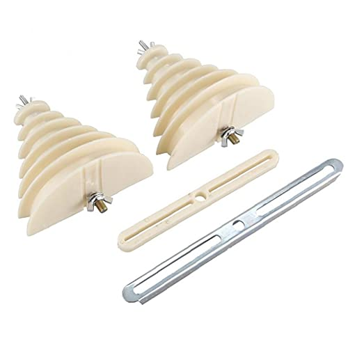 NaiCasy Bobina de Hilo de arrollamiento Molde 6 Capas de plástico monofásico Beige máquina eléctrica Molde Winding