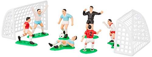 Decora 0816010 - Set de fútbol con 7 jugadores de 4.2 a 5 H y 2 Portas de 7.8 x 5 H cm