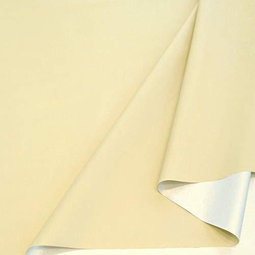 TOLKO Sonnenschutz Stoff mit Silber Thermo-Beschichtung | Verdunklungsstoff mit hoher Lichtdichte | Fensterfolie Hitzeschutz Verdunklungsfolie für Verdunklungsvorhänge Gardinen Meterware (Champagner)