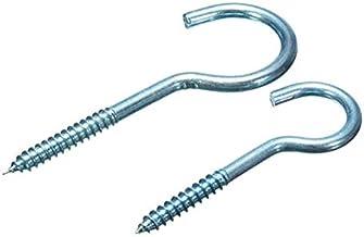 20 stks verzinkte koolstofstalen schroefhaken hangers houders cup haken 60mm 80mm (Size : #10)