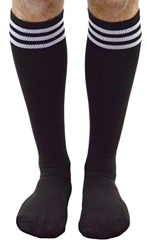 Mato & Hash Official Soccer Referee Sock - Adult Black/White CA7400
